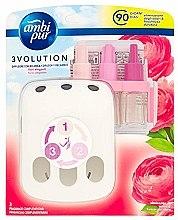 Düfte, Parfümerie und Kosmetik Lufterfrischer-Set Rose - Ambi Pur (Aroma-Diffusor 1 St. + Refill 3x7ml)