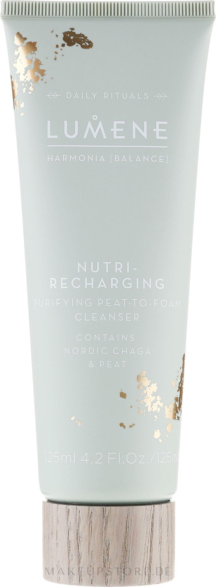 Gesichtsreinigungsschaum mit Chaga und Torf - Lumene Harmonia Nutri-Recharging Purifying Peat To Foam Cleanser — Bild 125 ml