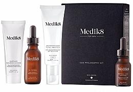 Düfte, Parfümerie und Kosmetik Gesichtspflegeset - Medik8 CSA Philosophy Kit For Men (Reinigungsgel 40ml + Gesichtsserum 30ml + Gesichtscreme 50ml + Nachtserum 15ml)