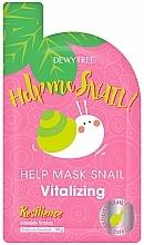 Düfte, Parfümerie und Kosmetik Vitalisierende Gesichtsmaske mit Schneckenmucin - Dewytree Help Me Snail! Vitalizing Mask
