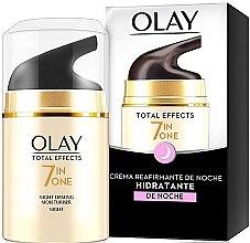 Düfte, Parfümerie und Kosmetik 7in1 Feuchtigkeitsspendende Anti-Aging Nachtcreme - Olay Total Effects Anti-Edad Night Moisturiser
