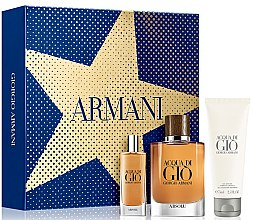 Düfte, Parfümerie und Kosmetik Giorgio Armani Acqua di Gio Absolu - Duftset (Eau de Parfum 75ml + Eau de Parfum 15ml + Duschgel 75ml)