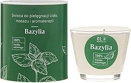 Düfte, Parfümerie und Kosmetik Massagekerze Basil - _Element Basil Organic Soy Bean Wax