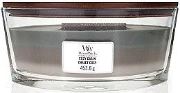 Düfte, Parfümerie und Kosmetik Duftkerze im Glas Cozy Cabin - WoodWick Flame Ellipse Trilogy Candle Cozy Cabin