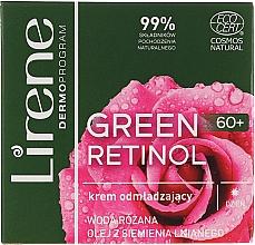 Düfte, Parfümerie und Kosmetik Verjüngende Tagescreme für das Gesicht mit Leinsamenöl und Rosenwasser - Lirene Green Retinol Day Cream