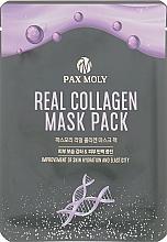 Düfte, Parfümerie und Kosmetik Feuchtigkeitsspendende Anti-Aging Tuchmaske für das Gesicht mit Kollagen - Pax Moly Real Collagen Mask Pack