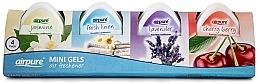 Düfte, Parfümerie und Kosmetik Duftset für Zuhause - Airpure 4 Pack Mini Gels (Raumduft-Gel 4x60g)