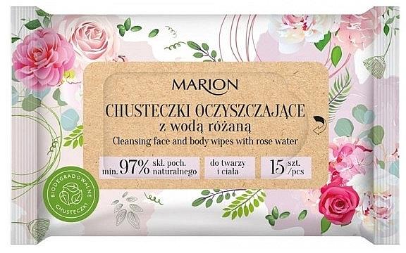 Reinigungstücher für Körper und Gesicht mit Rosenwasser 15 St. - Marion