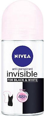 Deo Roll-on Antitranspirant - Nivea Deodorant Invisible For Black & White Clear Roll-On For Women — Bild N1