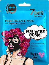 Düfte, Parfümerie und Kosmetik Feuchtigkeitsspendende Gesichtsmaske mit Aquaxylkomplex - 7 Days Total Black Moisture Real Water Boom