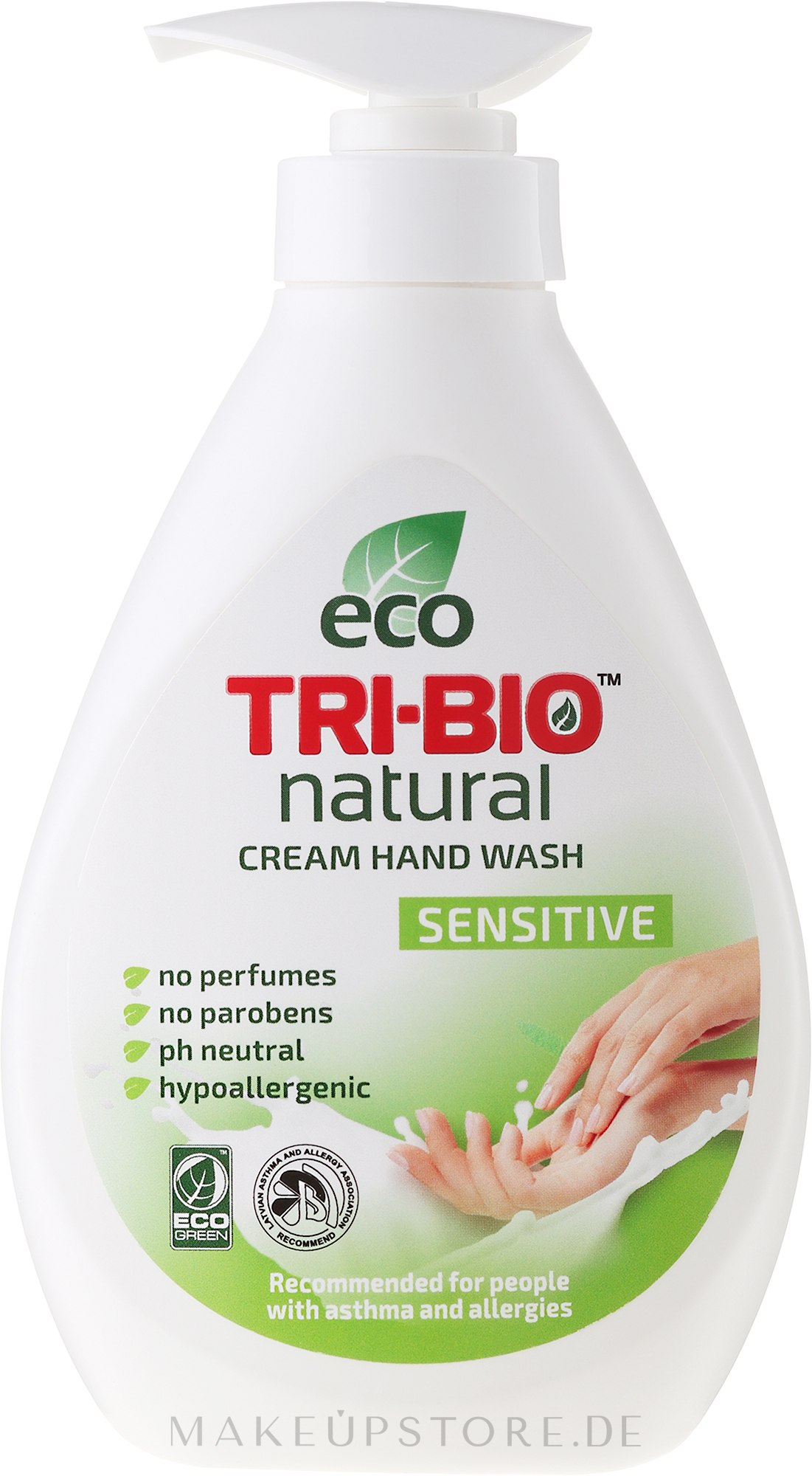 Natürliche Flüssigseife - Tri-Bio Cream Wash Sensitive — Bild 240 ml
