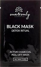 Peel-Off Gesichtsmasken mit Aktivkohle 3 St. - One&Only Cosmetics For Face Black Mask Detox Ritual — Bild N1
