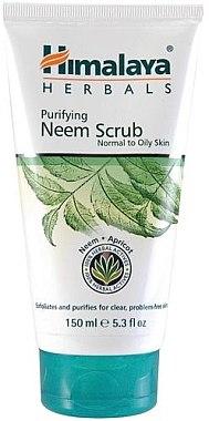Gesichtspeeling mit Neem für normale bis fettige Haut - Himalaya Herbals Purifying Neem Scrub — Bild N2