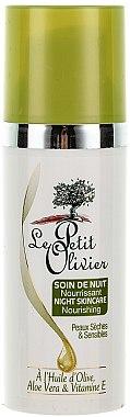 Pflegende Nachtcreme mit Olivenöl, Aloe Vera und Vitamin E - Le Petit Olivier Face Cares With Olive Oil — Bild N2