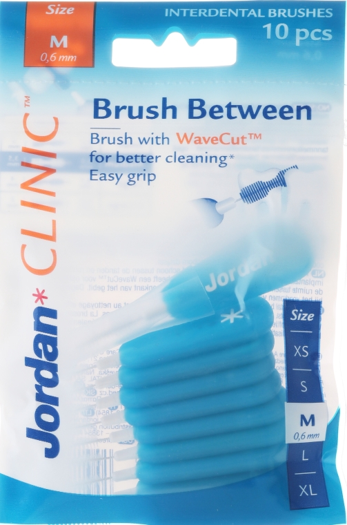 Interdentalzahnbürsten Clinic M 0,6 mm blau 10 St. - Jordan Clinic Interdental Brush M