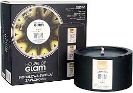 Düfte, Parfümerie und Kosmetik Soja-Duftkerze Black Opium - House of Glam Raw Black Collection Black Opium Candle