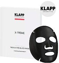 Düfte, Parfümerie und Kosmetik Regulierende schwarze Tuchmaske für das Gesicht - Klapp X-Treme Regulating Black Mask
