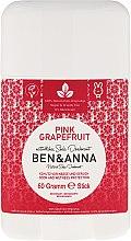Düfte, Parfümerie und Kosmetik Natürlicher Soda Deostick Pink Grapefruit - Ben & Anna Natural Soda Deodorant Pink Grapefruit