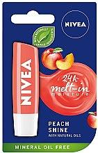 Feuchtigkeitsspendender Lippenbalsam Peach Shine - Nivea Lip Care Peach Shine Lip Balm — Bild N1