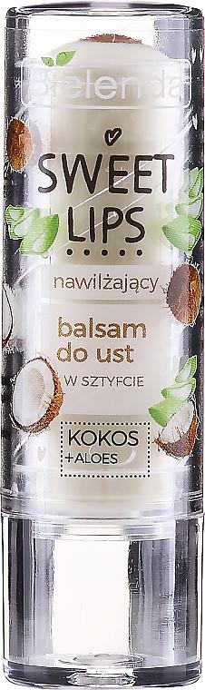 Feuchtigkeitsspendender Lippenbalsam mit Kokosnuss und Aloe - Bielenda Sweet Lips Moisturizing Lip Balm — Bild N1