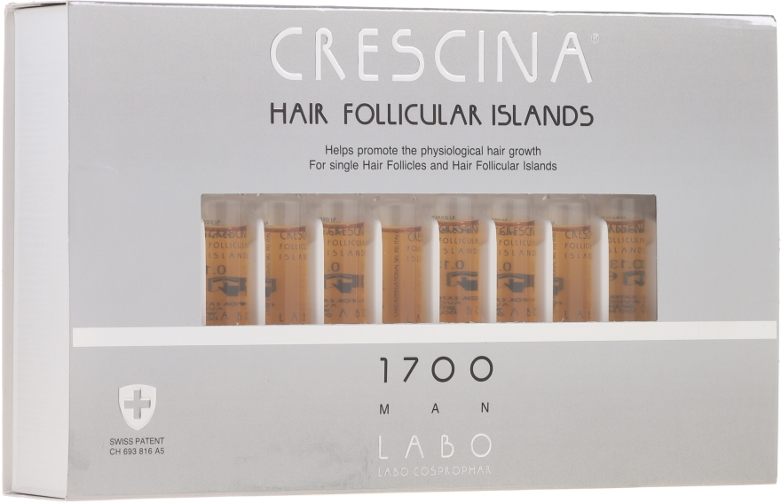 Haarwuchs stimulierende Ampullen für Männer 1700 - Crescina Hair Follicular Islands Re-Growth 1700