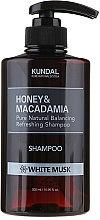 Düfte, Parfümerie und Kosmetik Feuchtigkeitsspendendes Shampoo mit weißem Moschus - Kundal Honey & Macadamia Shampoo White Musk