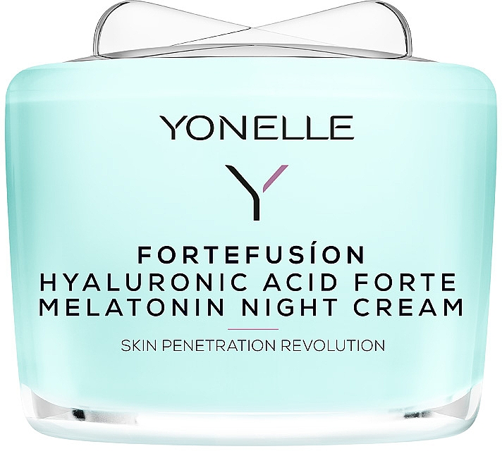 Nachtcreme mit Melatonin und Hyaluronsäure - Yonelle Fortefusion Hyaluronic Acid Forte Melatonin Night Cream — Bild N1