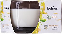 Düfte, Parfümerie und Kosmetik Duftglas Mango & Bergamote - Bolsius True Moods Collection Feel Happy Candle 63 mm x Ø90 mm