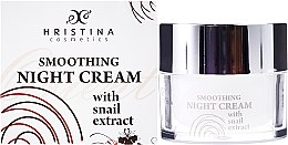 Düfte, Parfümerie und Kosmetik Glättende Nachtcreme mit Schneckenextrakt - Hristina Cosmetics Orient Snail Night Cream