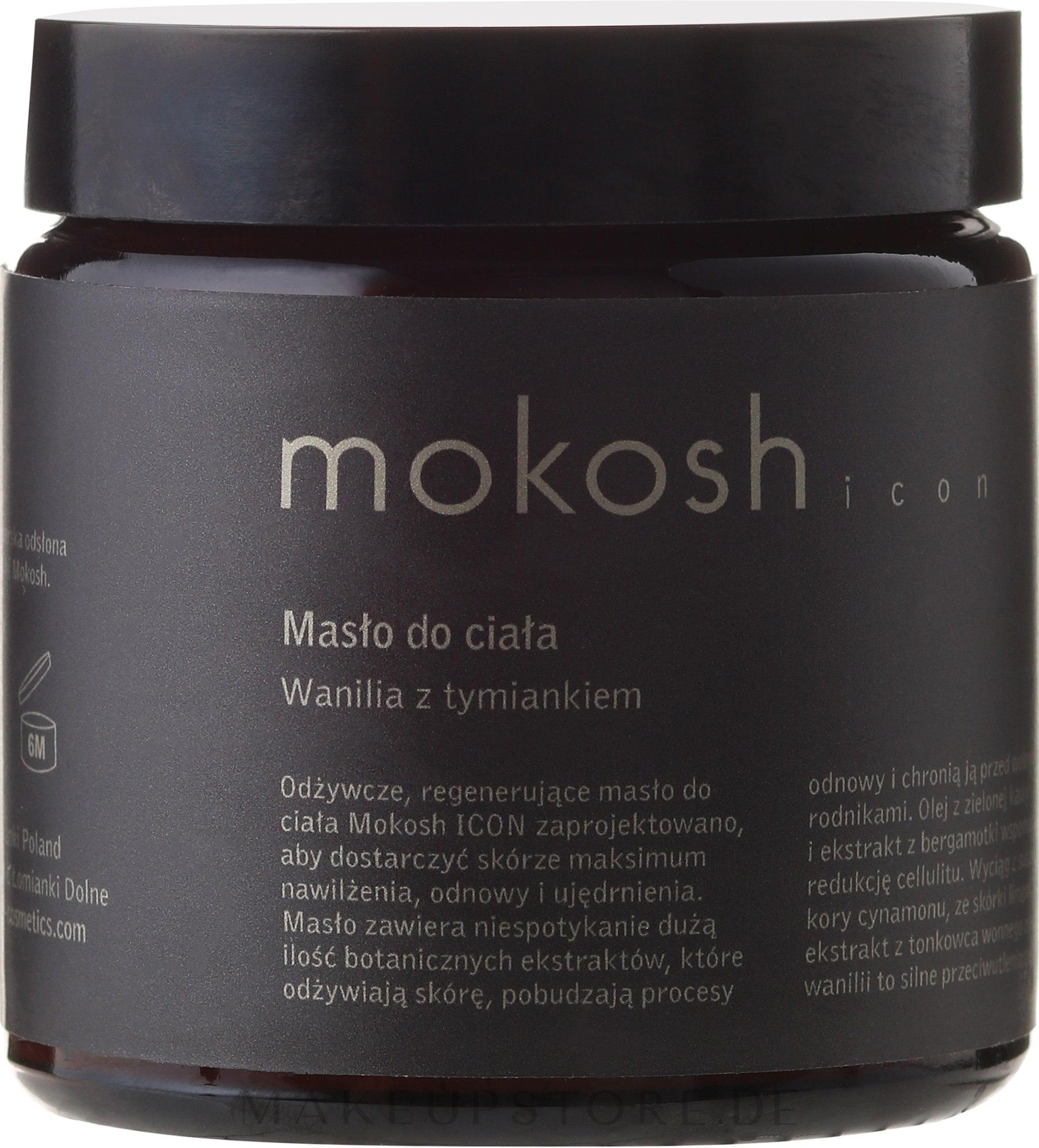 Körperbutter mit Vanille und Thymian - Mokosh Cosmetics Body Butter Vanilla & Thyme — Bild 120 ml