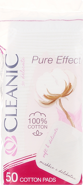 Kosmetische Wattepads Pure Effect 50 St. - Cleanic Face Care Cotton Pads