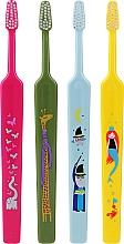 Düfte, Parfümerie und Kosmetik Kinderzahnbürste extra weich grün, gelb, hellblau, rosa 4 St. - TePe Kids Extra Soft
