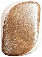 Düfte, Parfümerie und Kosmetik Kompakte Haarbürste mit Glitzer - Tangle Teezer Compact Styler Glitter Gold