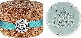 Düfte, Parfümerie und Kosmetik Naturseifen Violet Scrub in Schmuck-Box - Essencias De Portugal Cork Jewel-Keeper Violet Scrub Tradition Collection