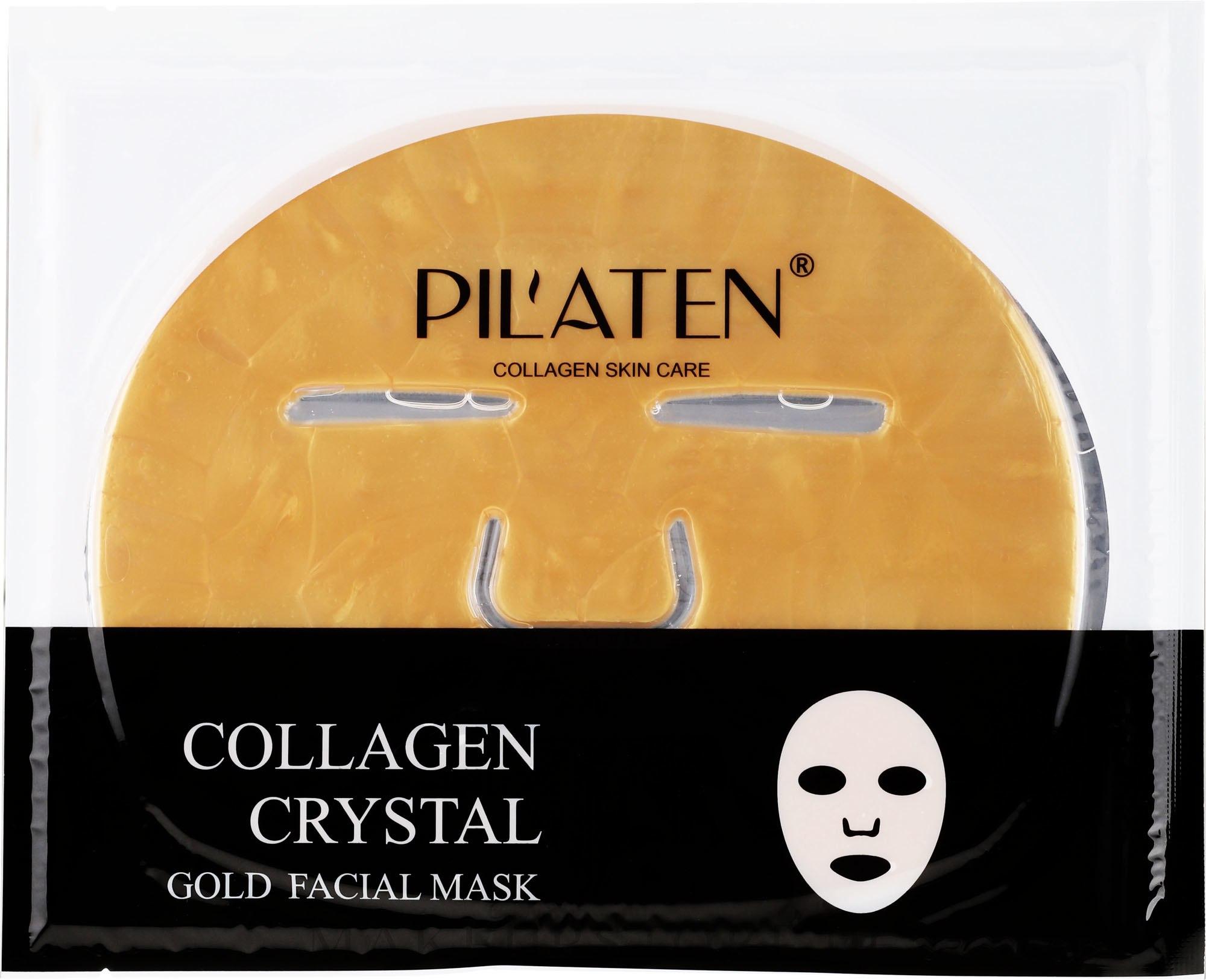 Erfrischende Tuchmaske für das Gesicht mit Kollagen - Pilaten Collagen Crystal Gold Facial Mask — Bild 60 g