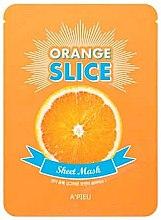 Düfte, Parfümerie und Kosmetik Aufhellende Tuchmaske in Form von dünn geschnittenen Orangenscheiben - A'pieu Slice Sheet Mask Orange