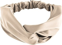 Düfte, Parfümerie und Kosmetik Haarband Faux Leather Twist beige - MakeUp Hair Accessories
