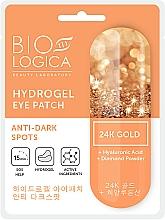 Düfte, Parfümerie und Kosmetik Augenpatches gegen dunke Ringe mit Hyaluronsäure und Diamantpulver - Biologica Gold