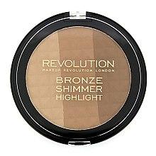 Düfte, Parfümerie und Kosmetik Bronze-Schimmer und Highlighter - Makeup Revolution Ultra Bronze, Shimmer and Highlight