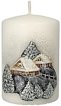 Düfte, Parfümerie und Kosmetik Dekorative Kerze Winter House - Artman Christmas Candle Winter House Ø7xH10cm