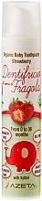 Düfte, Parfümerie und Kosmetik Zahnpasta mit Erdbeergeschmack - Azeta Bio Organic Baby Toothpaste Strawberry