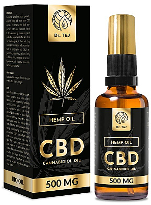 Natürliches Hanföl CBD 500 mg - Dr. T&J Bio Oil