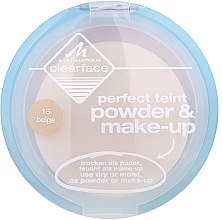 Düfte, Parfümerie und Kosmetik Gesichtspuder - Manhattan Clearface Perfect Teint Powder & Make-up
