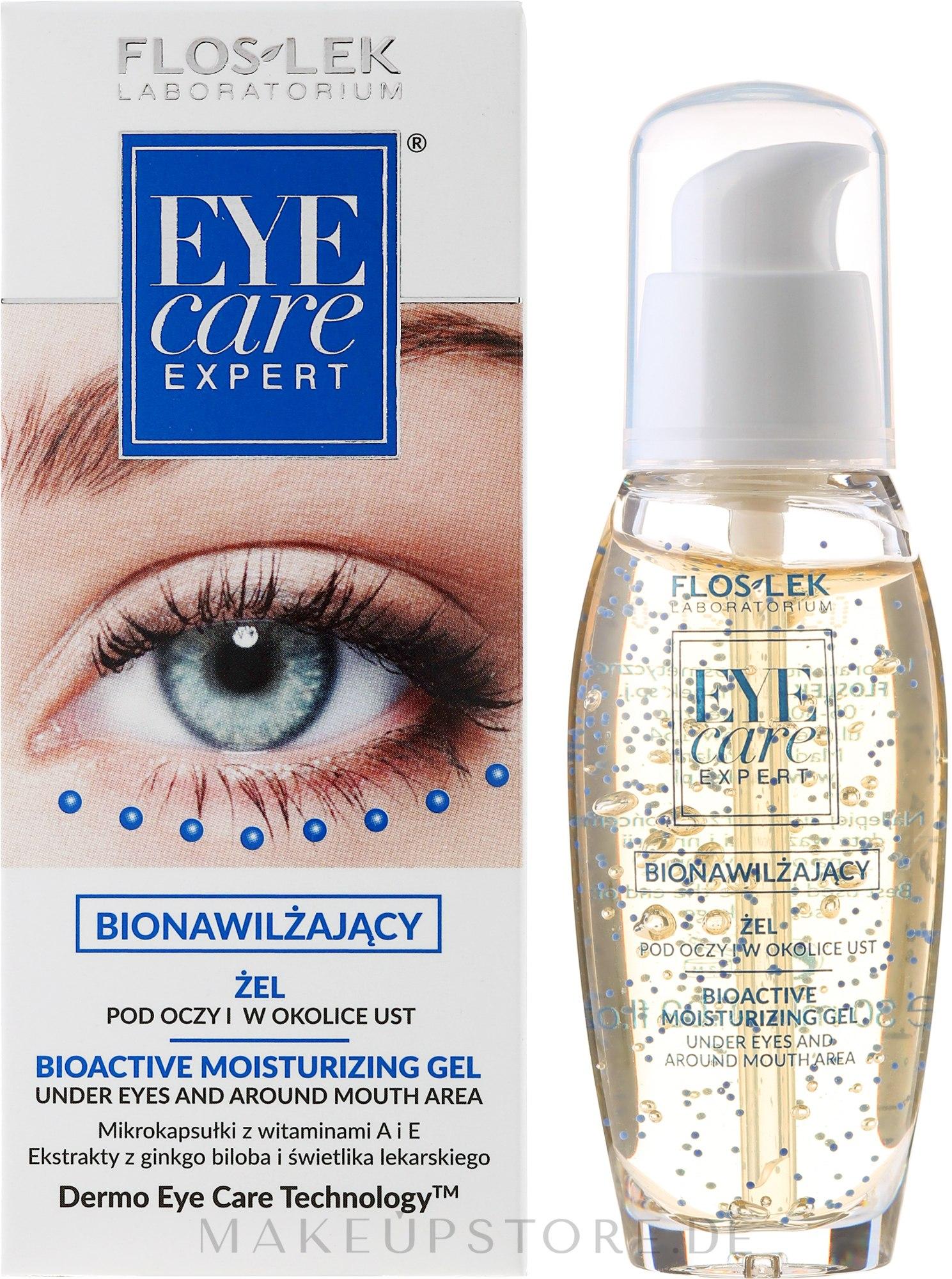 Feuchtigkeitsspendendes Augen- und Lippenkonturgel - Floslek Eye Care Bioactive Moisturizing Gel Under Eyes And Around Mouth Area — Bild 30 ml