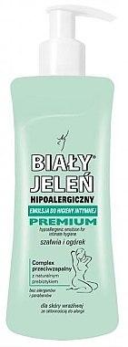 Hypoallergene Emulsion für die Intimhygiene mit Salbei und Gurke - Bialy Jelen Hypoallergenic Emulsion For Intimate Hygiene — Bild N1