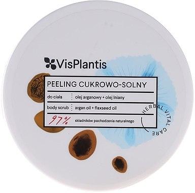 Zucker-Salz Körperpeeling mit Leinsamen- und Arganöl - Vis Plantis Herbal Vital Care Sugar & Salt Body Scrub — Bild N2