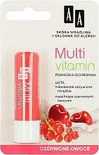 "Düfte, Parfümerie und Kosmetik Lippenbalsam ""Rote Früchte"" - AA Cosmetics Multi Vitamin Protective Lipstick"