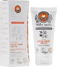 Düfte, Parfümerie und Kosmetik Natürliche und verjüngende Nachtcreme mit siberischem Ginseng 50+ - Rezepte der Oma Agafja White Agafia Natural Facial Night Cream