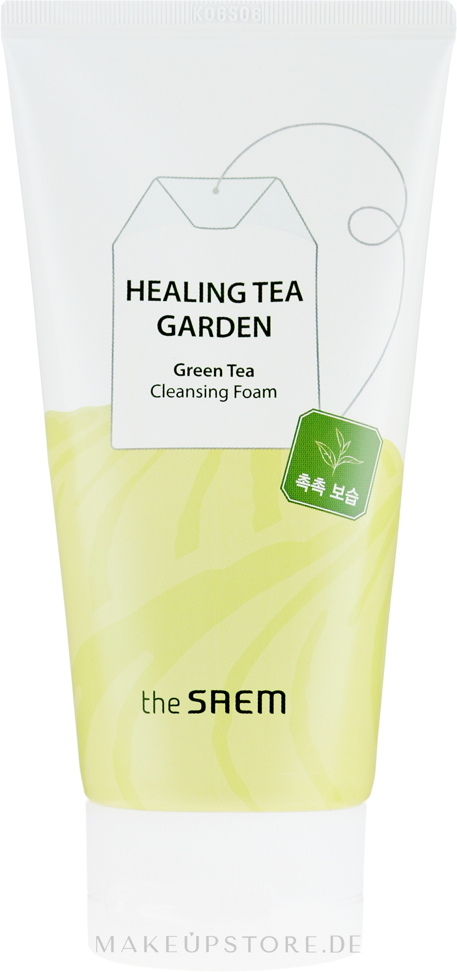 Gesichtsreinigungsschaum mit grünem Tee - The Saem Healing Tea Garden Green Tea Cleansing Foam — Bild 150 ml