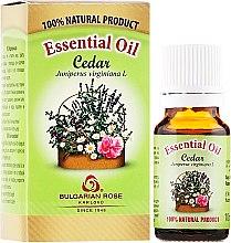 Düfte, Parfümerie und Kosmetik Ätherisches Bio Zedernöl - Bulgarian Rose Cedar Essential Oil